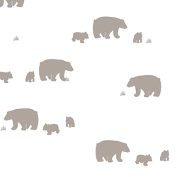 Bear Silhouette in Taupe