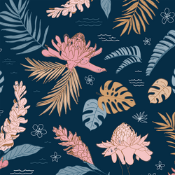 Island Flora in Deep Ocean