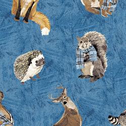 Tossed Animals in Blue