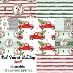 Best Friend Holiday Small Fat Quarter Bundle