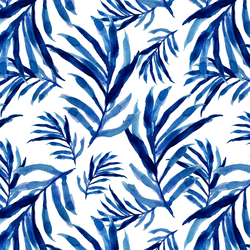 Nipa Palm in Cobalt