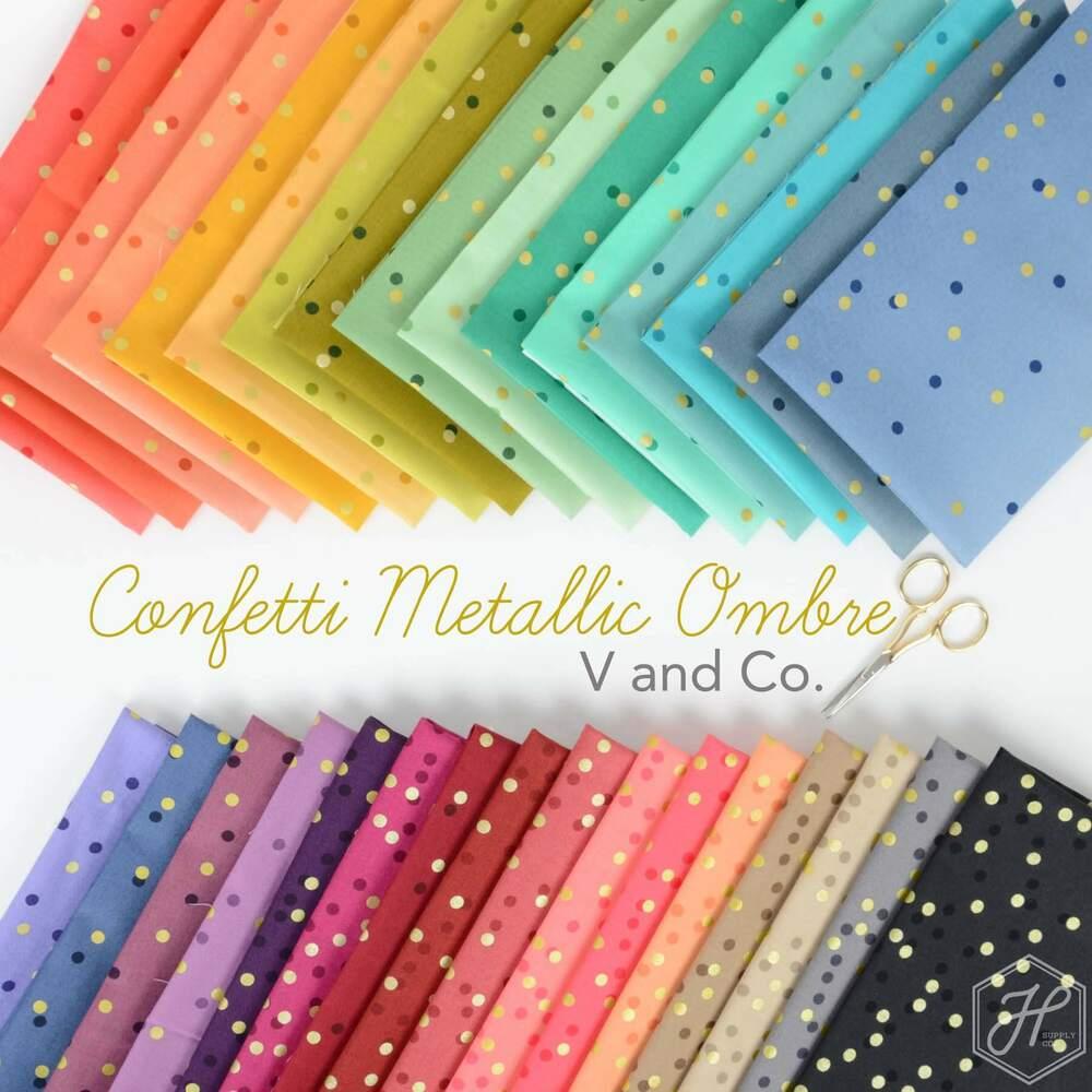 Ombre Confetti Metallic Poster Image