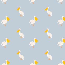 Pelican in Light Periwinkle