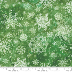 Snowflakes in Christmas Green