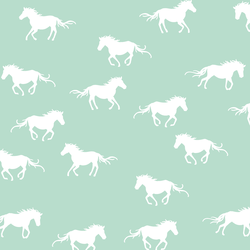 Horse Silhouette in Mint