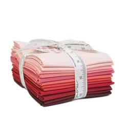 Bella Solids Fat Quarter Bundle in Red