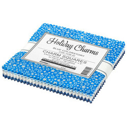 """Holiday Charms 5"""" Square Pack in 2021 Blue Colorstory"""