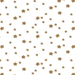 Star Light in Ochre on White