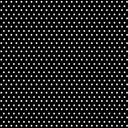 Winter Dot in White on Black