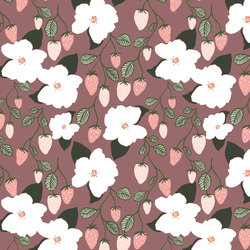 Little Strawberry Magnolias in Tulipwood