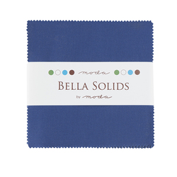 Bella Solids Charm Pack in Blue