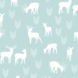 Deer Silhouette in Glacier Blue