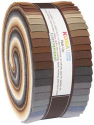 """Kona Solid 2.5"""" Strip Roll in Neutral"""
