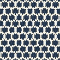 Honeycomb in Deep Indigo