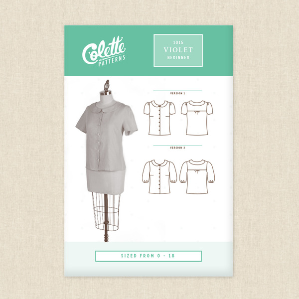 Violet Blouse Sewing Pattern By Colette Patterns At Hawthorne Supply Co
