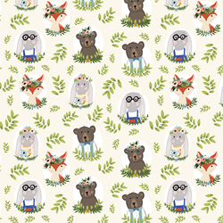 Woodland Characters in Ivory