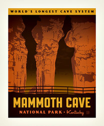 Poster Panel in Mammoth Cave