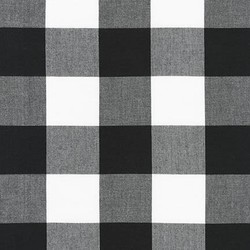 Two Inch Carolina Gingham Yarn Dyed in Black