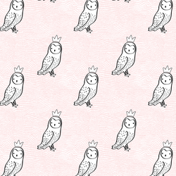 Small Crowned Owl in Sweet Pink