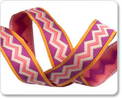 Meander Ribbon in Fuchsia and Gold