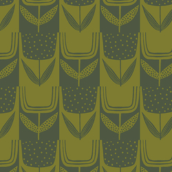 Patchwork Tulips in Olive