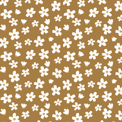 Large Daisy Garden in Burnt Toffee