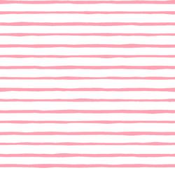 Artisan Stripe in Rose Pink on White