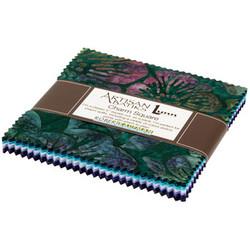 """Lively Garden Artisan Batiks 5"""" Square Pack"""
