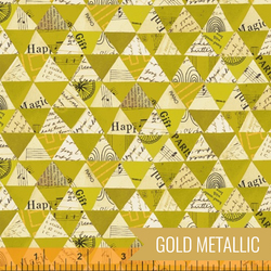 Collaged Triangles in Olive Oil Metallic