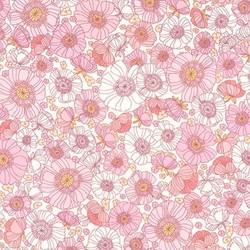 Floral Sketch in Pink