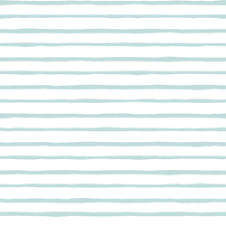 Artisan Stripe in Glacier Blue on White
