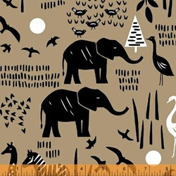 Safari Scene in Linen