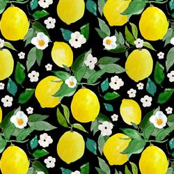 Large Lemons in Black