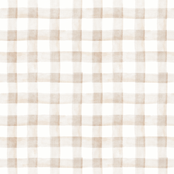 Large Garden Gingham in Soft Taupe