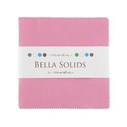 Bella Solids Charm Pack in 30's Pink