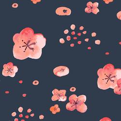 Cherry Blossoms in Indigo