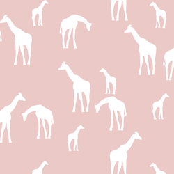 Giraffe Silhouette in Blush