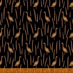 Cranes in Field in Black