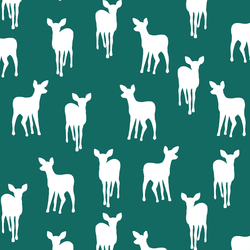 Fawn Silhouette in Emerald