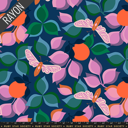 New Leaf Rayon in Navy