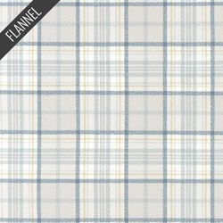 Mammoth Organic Simple Plaid Flannel in Dove