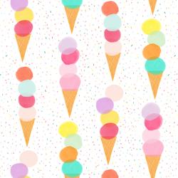 Sprinkle Cones in Rainbow