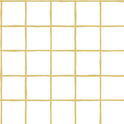 Windowpane in Honey on White
