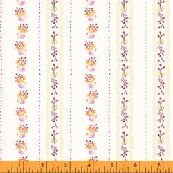Floral Stripe in Lilac