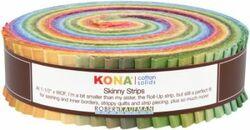 """Kona Solid 1.5"""" Strip Roll in Dusty"""