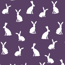 Cottontail Silhouette in Aubergine