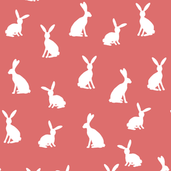 Cottontail Silhouette in Poppy