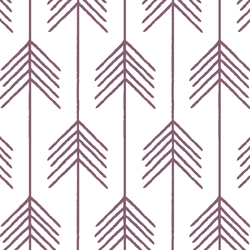 Vanes in Mulberry on White