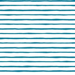 Artisan Stripe in Peacock on White