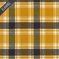 Mammoth Bismarck Flannel in Saffron